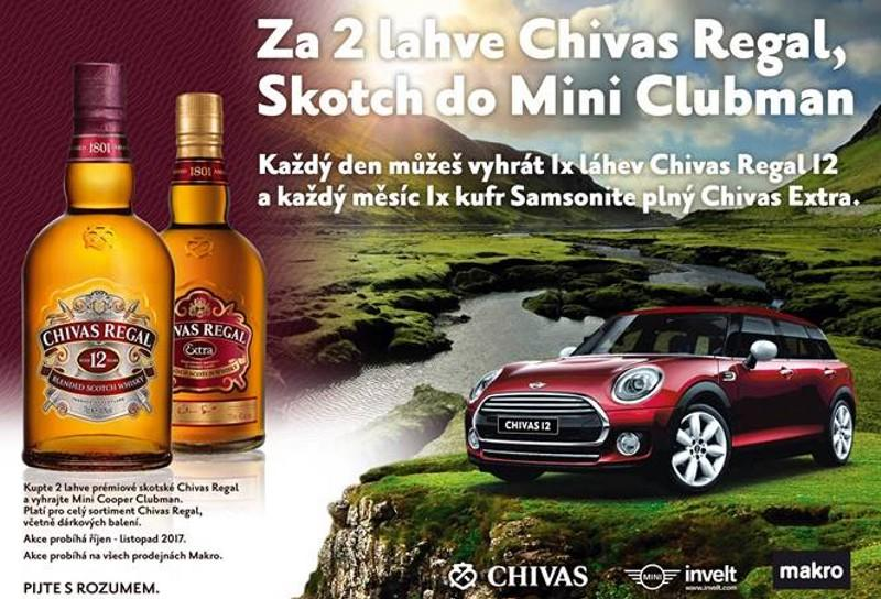 Soutìžte s Chivas Regal o Mini Cooper